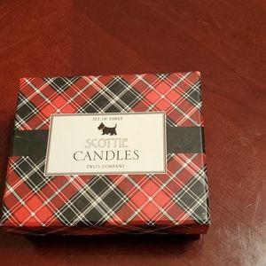 Scotty dog candles